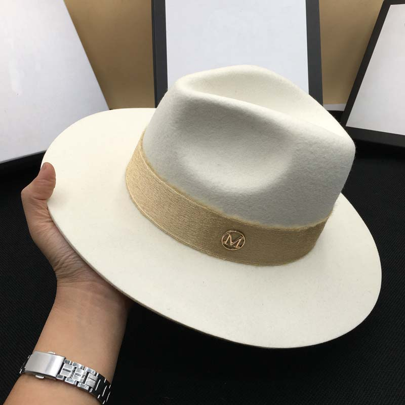 Autumn wool White male temperament dame cap hat felt hat joker panama restoring ancient ways(China)