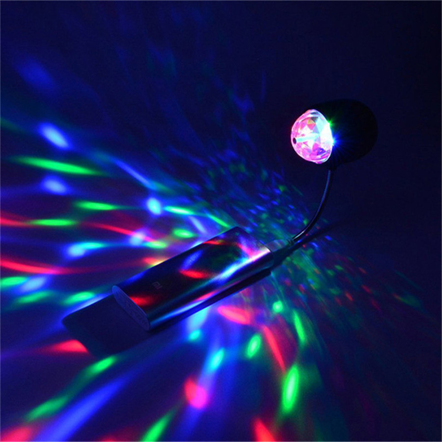 2 in 1 USB Powered 4W Mini Magic Ball Colorful White Car stage lights Rotating Disco Party Bar LED Stage Lighting Effect2 in 1 USB Powered 4W Mini Magic Ball Colorful White Car stage lights Rotating Disco Party Bar LED Stage Lighting Effect