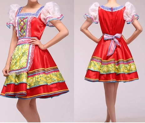 Women traditional russian costume chinese traditional