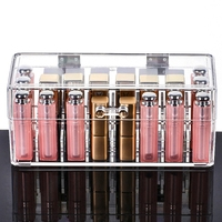 Transparent Crystal Acrylic Makeup Cosmetics Organizer Plastic Nail Lipstick Jewelry Storage Box For Bedroom Girlfriend Gift