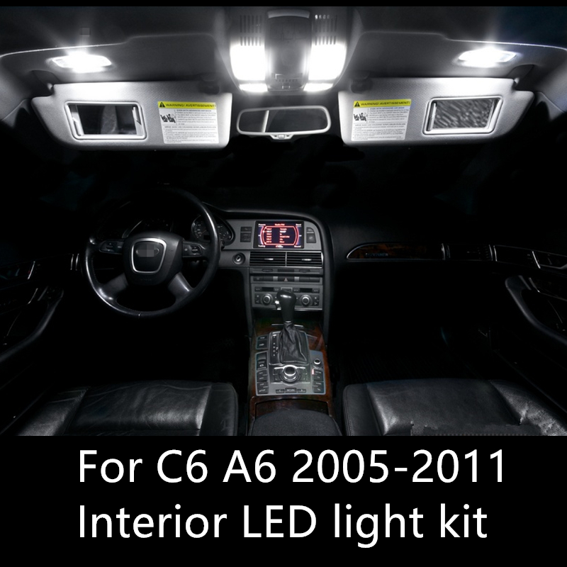 14pcs Error Free Auto LED Bulbs Car Interior Lights Kit Dome Lamps For <font><b>Audi</b></font> <font><b>A6</b></font> C6 RS6 accessories 2005-2011 LED interior light image