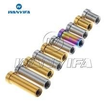 Wanyifa встраиваемые M6 Титан гайка для Дорожный Велосипедный тормозной суппорт C зажим крепления Титан часть полной длины 13/15/17/21/22 мм