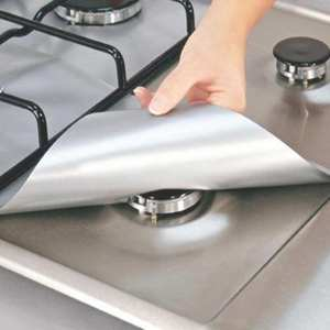 Protectors Burner-Cover Gas-Stove Fire-Injuries-Protection Kitchen Liner-Mat Reusable