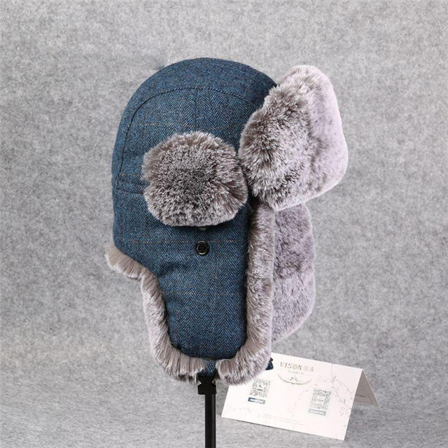 6db369a3871 Winter Proof Trapper Hats For Men Women Bomber Hat Faux Fur Thickening Russian  Hat Snow Caps Aviator Earflap Outdoor DS50129