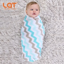 LAT Baby 100 Organic Cotton Muslin Swaddle Wrap Receiving Blanket Chevron Christmas Tree Printing Swaddling wrap