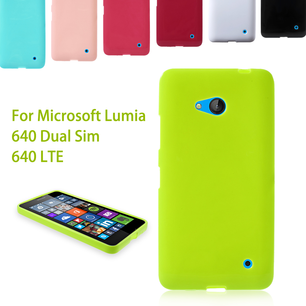 Dulcii For Microsoft Lumia 640 Dual Sim Glossy Outer Brushed Inner Soft TPU Cover for Lumia 640 Dual Sim / 640 LTE - 5.0 inch