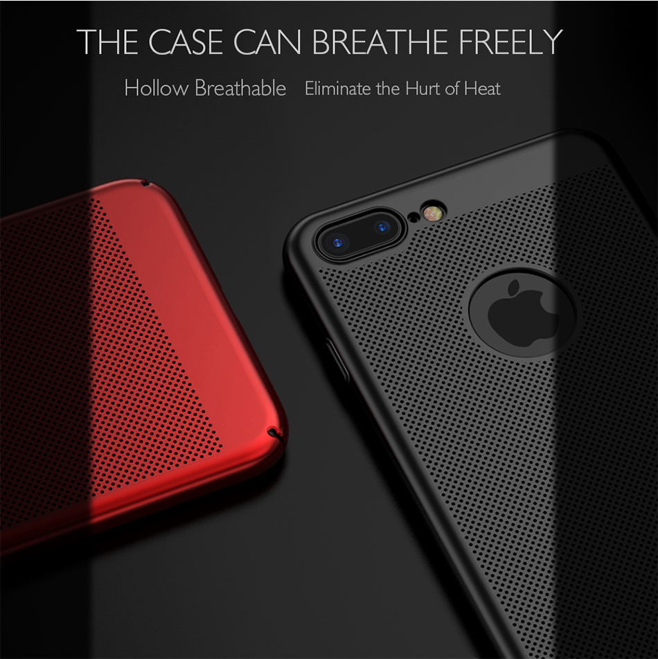 HTB1WUxReBHH8KJjy0Fbq6AqlpXaY - Ultra Slim Phone Case For iPhone 6 6s 7 8 Plus Hollow Heat Dissipation Cases Hard PC For iPhone 5 5S SE Back Cover Coque X S MAX