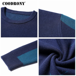 Image 5 - COODRONY 2018 New Autumn Winter Thick Warm Cashmere Sweater Men Casual O Neck Pull Homme Brand Pullovers Mens Wool Sweaters 7185