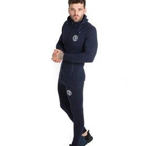 Image 5 - 秋新メンズスキニーソリッドカラー男性ジムフィットネスボディービルジョギングスポーツウェアカジュアルファッション綿のジッパーのジャケット