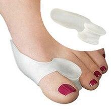 Силиконовый гель, разделитель большого пальца, облегчает боль в ноге, коррекция вальгусной деформации, защита, подушка, корректор большого пальца, 1 пара