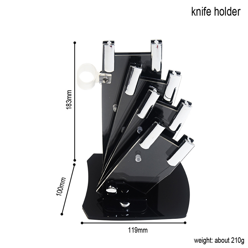 """5 Pieces Set Knife Stand Used For 3"""" 4"""" 5"""" 6"""" Ceramic Knife One Peeler High Grade Acrylic Knife Holder Kitchen Accessories
