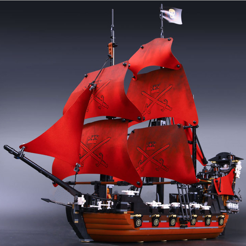 Stzhou 16009 1151pcs Queen Anne's Revenge Pirate of the Caribbean Building Blocks Set Bricks 4195 Creative Toys For Children lepin 16009 the queen anne s revenge pirates of the caribbean building blocks set compatible with legoing 4195 for chidren gift