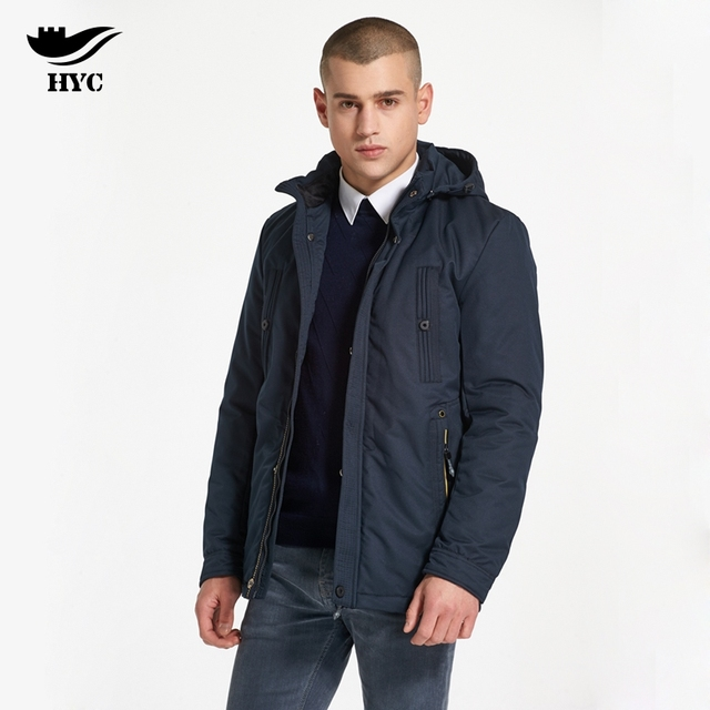 HAI YU CHENG Military Jacket Men Winter Coat Male Casual Thin Mens ...