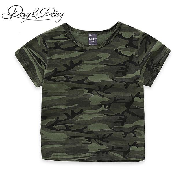 DAVYDAISY Fashion Summer Short Sleeve T Shirt Boys Army Green O Neck  Camouflage Print Military T Shirt Children Clothing WTS-025 f3123408fa30