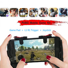 For pubg Mobile Game Fire Button Aim Key Smart phone Gaming Trigger Shooter Controller Gamepad For IOS Android Integrated handle