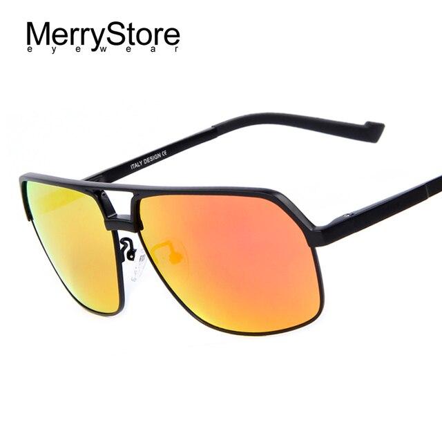84721434205 MERRYSTORE Men Brand Ultralight Gold Frame Polar Sunglasses Fashion Driving Polarized  Glasses Aluminum Alloy Sunglasses