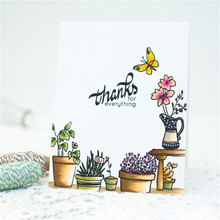Eastshape Grow Clear Transparent Silicone Stamp Stencils Garden Stamps Set Scrapbooking New 2019 Album Embossing