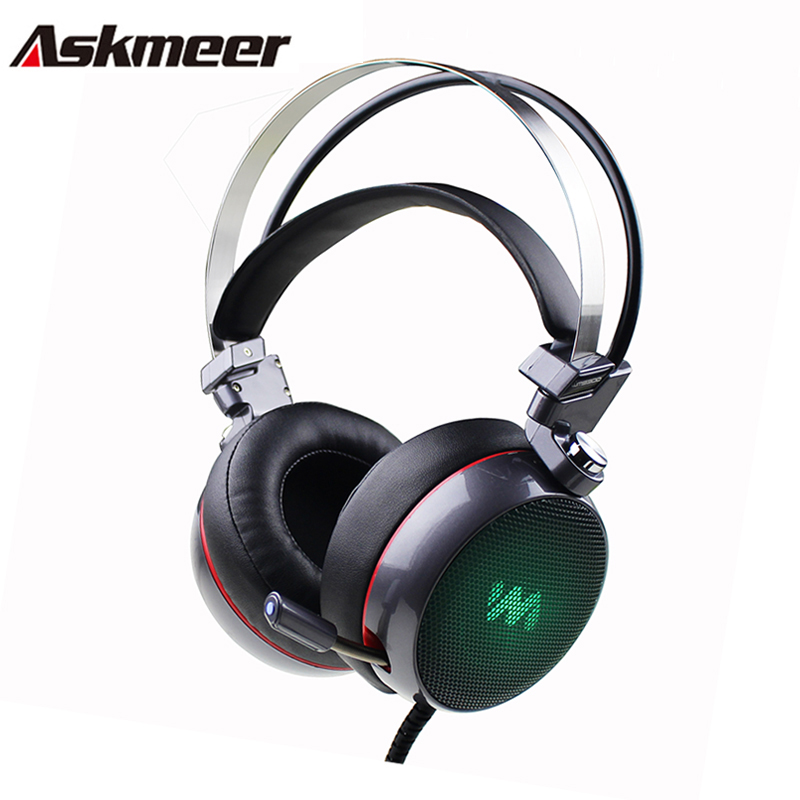 askmeer 9300 computer gaming headphones casque over ear stereo headset gamer with microphone mic. Black Bedroom Furniture Sets. Home Design Ideas