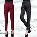 Winter New Arrival Women Warm Down Pants High Waist Thick Pencil Pants Female Slim Down Trousers Plus Size
