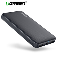 Ugreen 10000mAh Power Bank Dual USB Powerbank Portable Mobile Phone Chargers For IPhone X SamsungS8 External