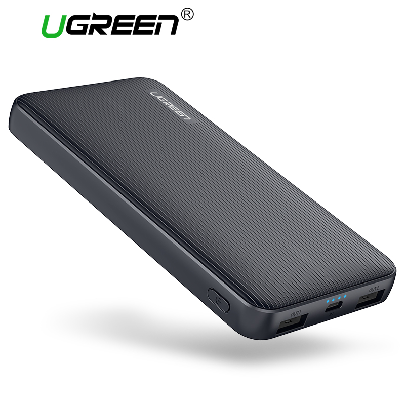 Ugreen 10000mAh Power Bank Dual USB font b Powerbank b font Portable Mobile Phone Chargers for