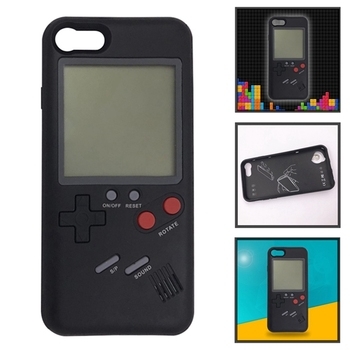 Gameboy Tetris Phone Cases For IPhone 6 6S 7 8 Plus Soft TPU Can Play Blokus Game Console Cover For Iphone X Capa iphone 6