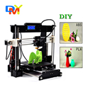 2016 New Upgraded Quality High Precision Reprap Prusa I3 -X DIY Full Acrylic 3d Printer Kits with 1 roll filament 8GB SD Card