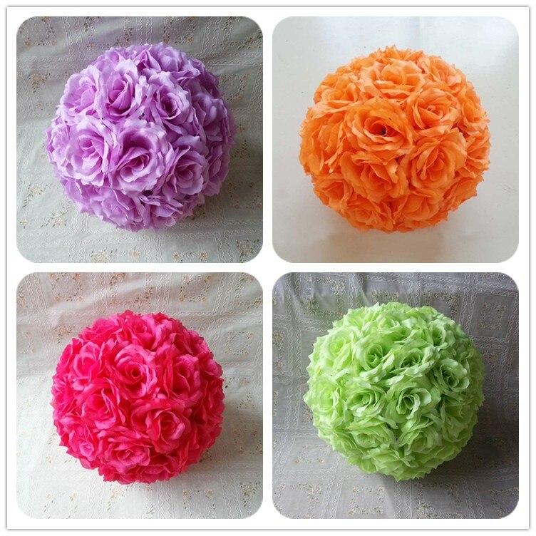 pulgadas cm colores de seda rosa bolas de flores decoracin de la boda besos bolas para el hogar partido c