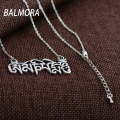 BALMORA 100% Real 990 Pure Silver Jewelry 1.9cm*4.3cm Pendant Necklaces Female Male Accessories Gifts Party Collares JLWC80713