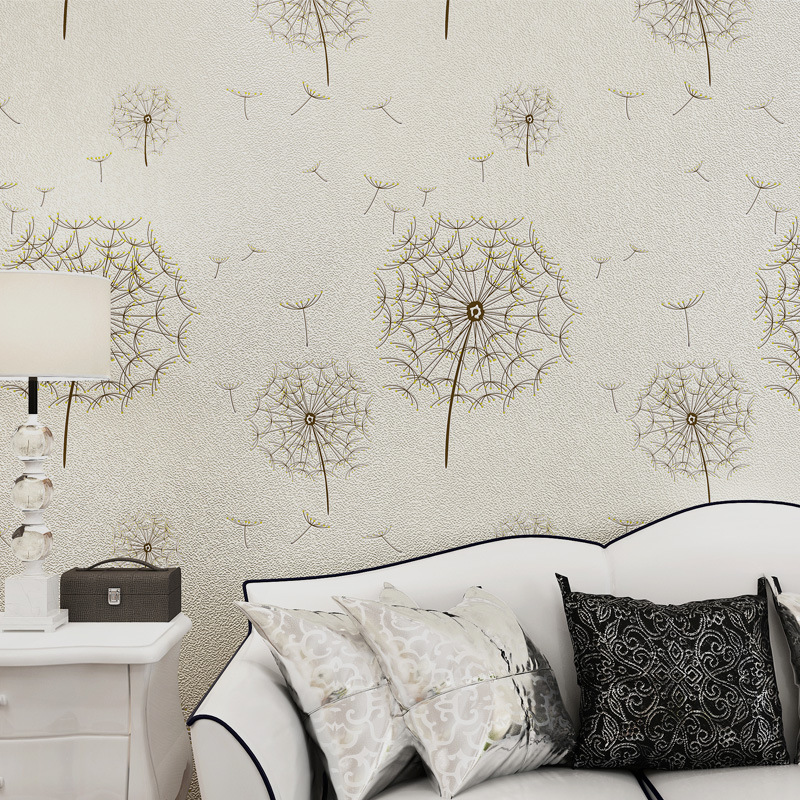 3 d non-woven wallpaper wholesale Sweet pastoral dandelion The sitting room the bedroom wall of setting of the study new fine fabric texture wall of setting of the bedroom a study wallpaper of europe type style yulan wallpaper fashion pavilion