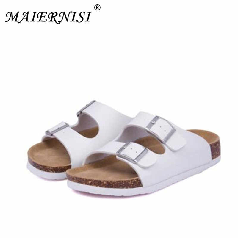 02c67490037 Women Shoes Sandals Slippers Summer Lady Flats Sandals Cork Slippers Casual  Shoes Mixed Colors Beach Slides