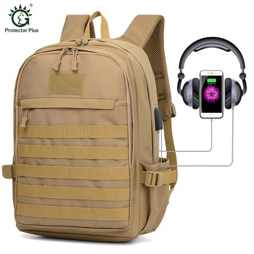 Tactical Travel Backpack EDC Rucksack Molle Army Pack Assault Pack Bug Out Bag for Military Camping Camping Hiking with USB