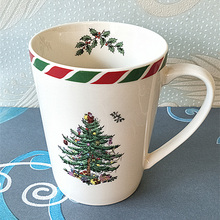 14 Oz 400 Ml Classic Christmas tree mug milk white Nordic luxury Christmas mug New Year's gift home coffee Mug Drinkware