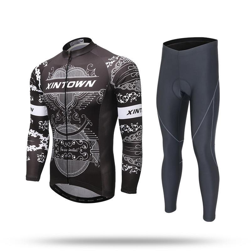 XINTOWN Cycling Jerseys Bike Pants Sets Men Ropa Ciclismo Spring Autumn Bicycle Clothing Long Sleeves Cycling Wear xintown men s cycling clothing bike ropa ciclismo suit bicycle jerseys