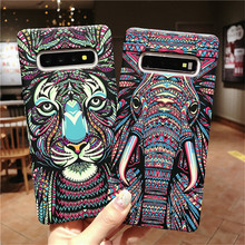 Fashion Animal Tiger Elephant Night Glow Luminous Case For Samsung Galaxy Note 8 9 S8 S9 Plus Hard Phone Cases Cover