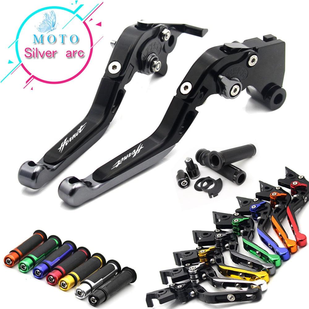 For Honda CB599 / CB600 HORNET 1998-2006 1999 2000 2001 2002 2003   CNC Folding Brake Clutch Levers Handlebar Hand Grips 1 Set
