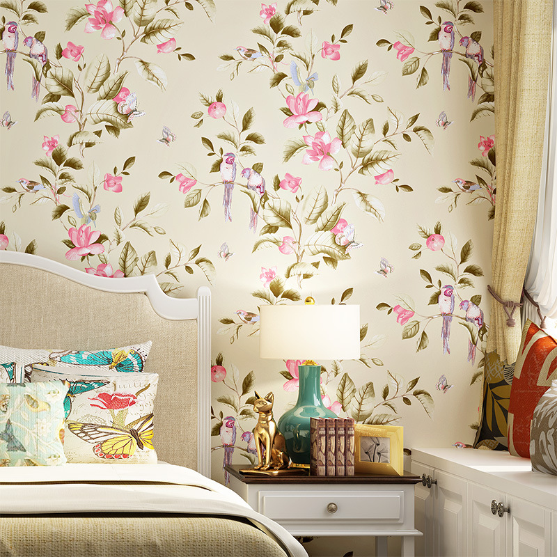 Bon 3D Modern Wallpapers Home Decor Flower Wallpaper 3D Non Woven Wall Paper  Roll Bird Trees Wallpaper Decorative,Bedroom Wallpaper  In Wallpapers From  Home ...