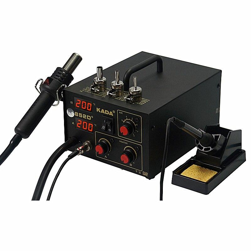 KADA 852D + SMD réparation BGA poste à souder pistolet à air chaud et fer à souder 2 en 1