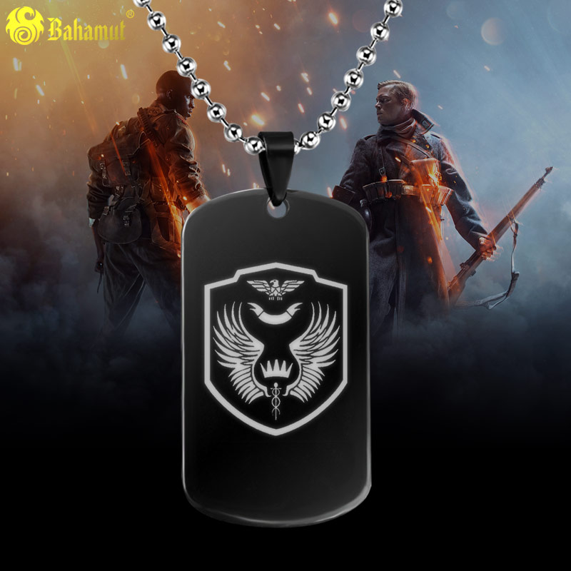 cc106a74938b7 Battlefield 1 Game Limited Edition Metal Dog Tag Titanium Steel Necklace  Pendant-in Pendants from Jewelry & Accessories
