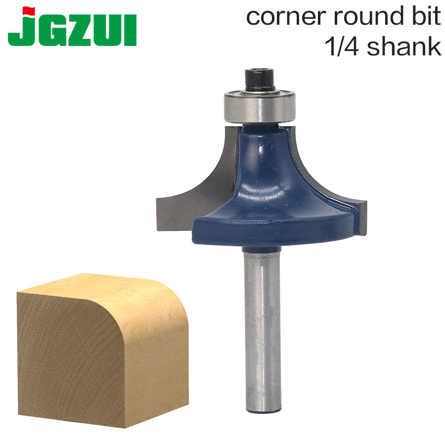 1 PC 1/4 Shank Round Over And Beading Edging Router Bit Set C3 Carbide Tipped Tenon Cutter For Woodworking Tools