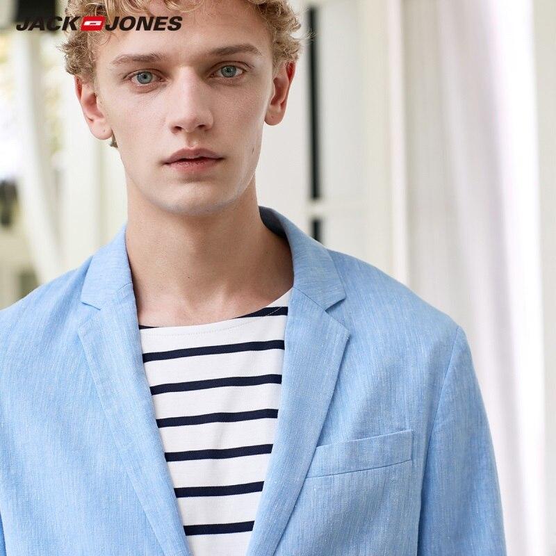 JackJones Men's Slim Fit Cotton Linen 3/4 Sleeves Blazers Basic Menswear C|21918P501
