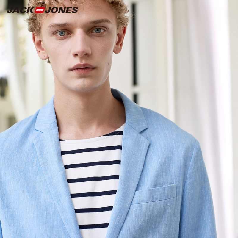JackJones uomo Slim Fit In Cotone di Lino 3/4 Maniche Giacche di Base di Abbigliamento Maschile C | 21918P501