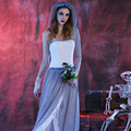 Ghost Bride Infierno Zombie Devil Angel Diosa Vestidos de Fiesta Cosplay Disfraces Adultos Disfraz disfraces de Halloween mujer