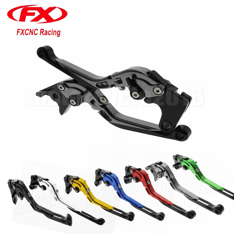 FX CNC Motorcycle Folding Extendable Brake Clutch Lever For Aprilia RSV4 FACTORY RSV4-R RR 2009 - 2017 Moto Brake Lever adjustable folding extendable brake clutch lever for moto guzzi norge 1200 gt8v 1200 sport stelvio cnc free shipping motorcycle