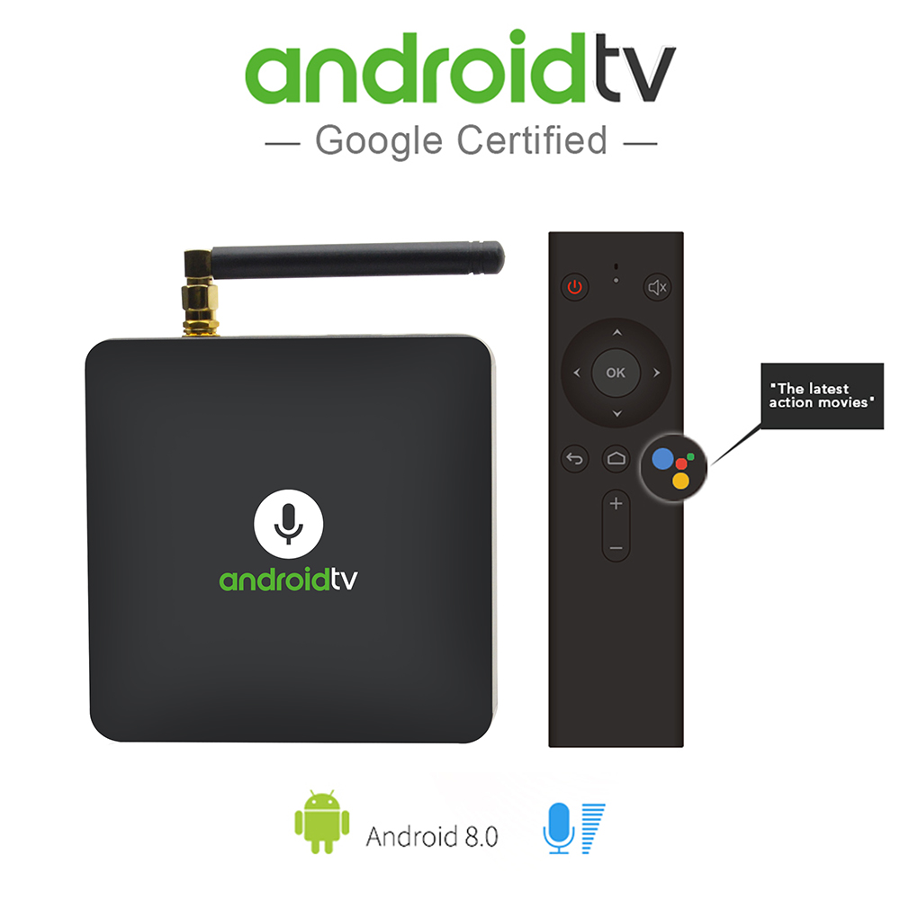 MECOOL KM8 Android 8.0 TV Box Google Voice Control Amlogic S905X 2GB+16GB VP9 HDR10 Dolby Audio 4K HD OTA Smart Set Top Box телеприставка vsmart m8 amlogic s802 2 8 2ghz 4k android ota hdmi bluetooth 4 0