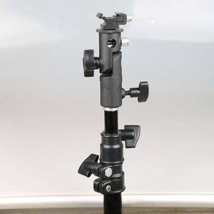 """Image 3 - E tipi üniversal Metal flaş braketi sıcak ayakkabı Speedlite şemsiye tutucu ile 1/4 """"3/8"""" vidalı bağlantı döner adaptör ışık standı"""
