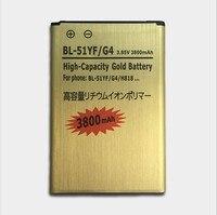 2017 100% nuevo de reemplazo de la batería del teléfono móvil para lg bl-51yf g4 h818 h810 vs999 f500 f500s f500k f500l 3800 mah