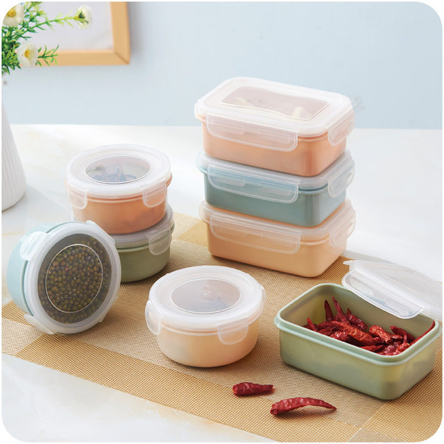 1pc Mini Plastic Refrigerator Fresh Food Storage Boxes Sealed Boxes Small Lunch Box & Online Shop 1pc Mini Plastic Refrigerator Fresh Food Storage Boxes ...