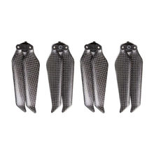 Para dji mavic 2 pro hélice de fibra carbono baixo ruído 8743f dobrável adereços hélice liberação rápida para mavic 2 zoom