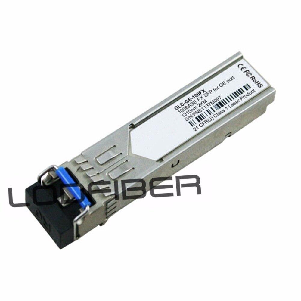 GLC-GE-100FX Compatible 100BASE-FX SFP 1310nm 2km Transceiver for Gigabit Ethernet SFP PortsGLC-GE-100FX Compatible 100BASE-FX SFP 1310nm 2km Transceiver for Gigabit Ethernet SFP Ports